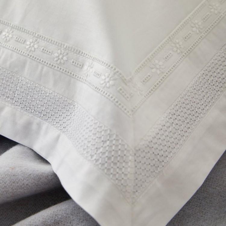 Kensington Embroidered 200TC Percale Duvet Set