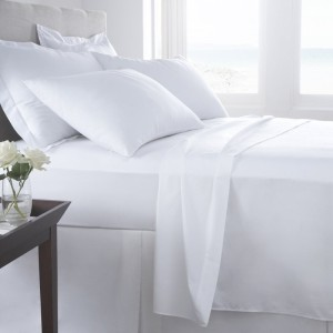Vermont White Organic Cotton Fitted Sheet