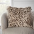 Leopard Print Goat Fur Cushion Cover