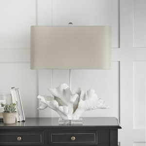 White Coral Lamp with Shade