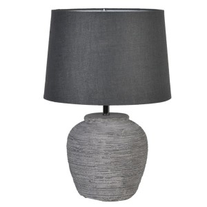 Distressed Stone Effect Lamp with Dark Shade