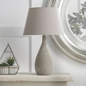 Concrete Table Lamp with Shade