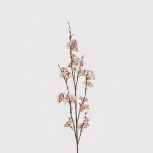 Soft Pink and Cream Cherry Blossom Stem