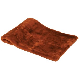 Burnt Orange Faux Fur Throw