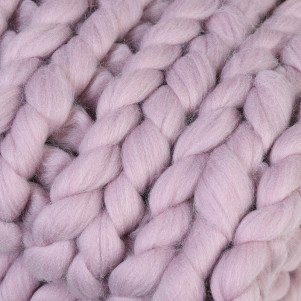 Blush Chunky Knit Blanket