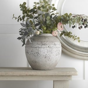 Rustic Stone Vase - Delivery End Aug
