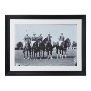 Black and White 'The Wait' Polo Players Picture