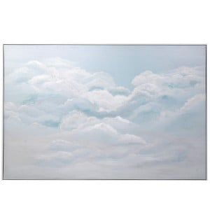 Up in the Clouds Framed Canvas
