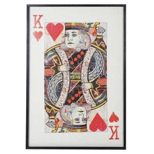 Framed King of Hearts Collage