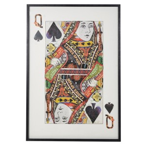 Framed Queen of Spades Collage