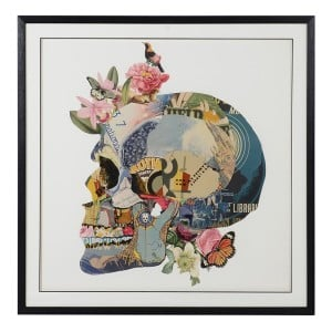 Framed Skull Collage
