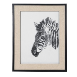 Zebra Pin Art Wall Deco