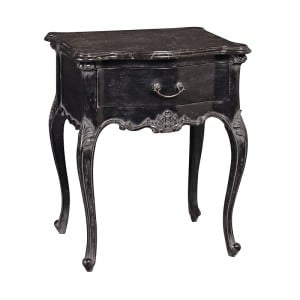 Amberleigh Black Bedside Table