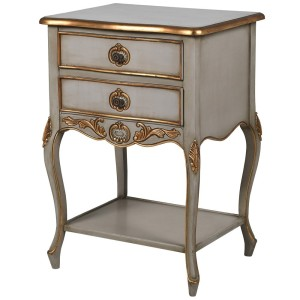 Apperley Bedside with Gold Accents