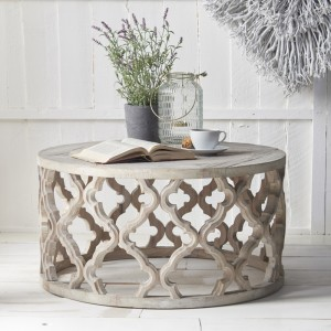 Round Fretwork Coffee Table