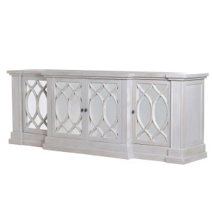 Grey Washed Mirrored Sideboard