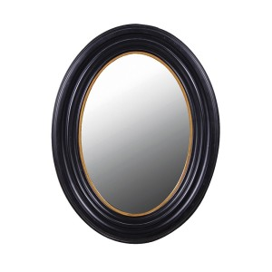 Manhattan Oval Mirror in Black and Gold