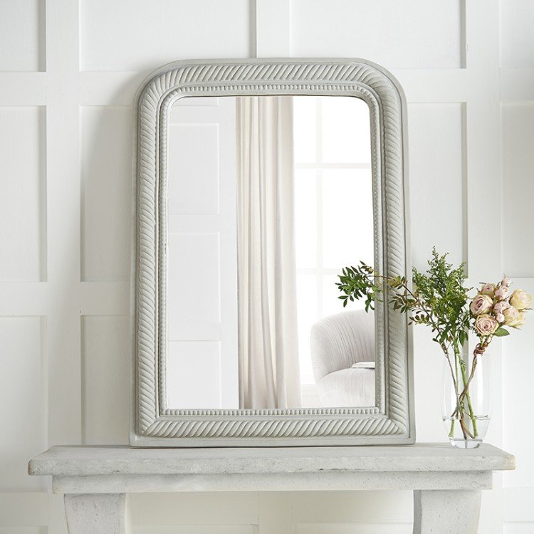 Emile Curved Rope Edge Mirror