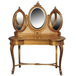Keswick 3 Mirrored Rococo Dressing Table