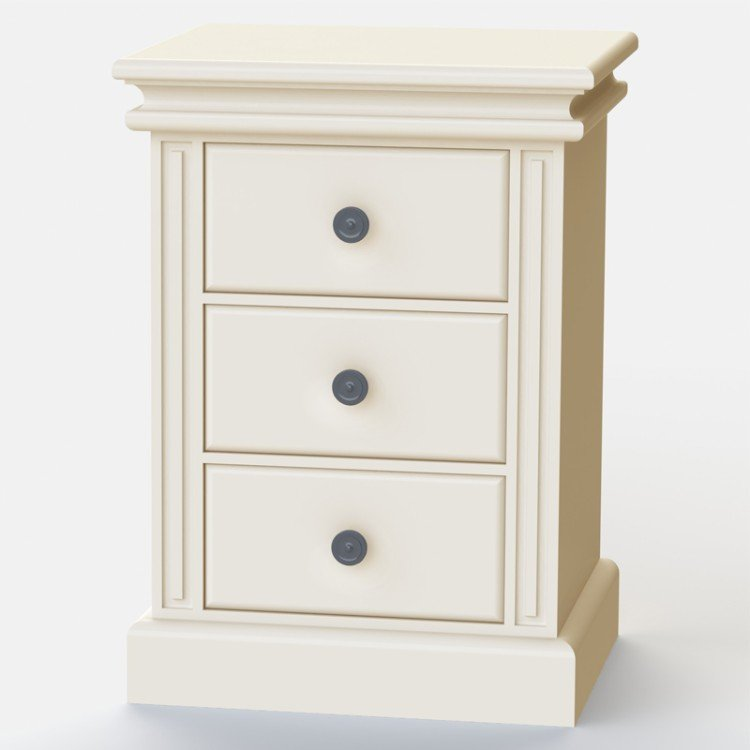Dovecot 3 Drawer Bedside Table