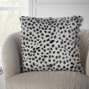 Win a luxury Black and White Leopard Print Goat Fur Cushion Cover this March!