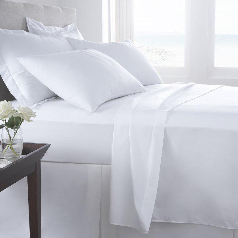 Vermont White Organic Cotton Flat Sheet