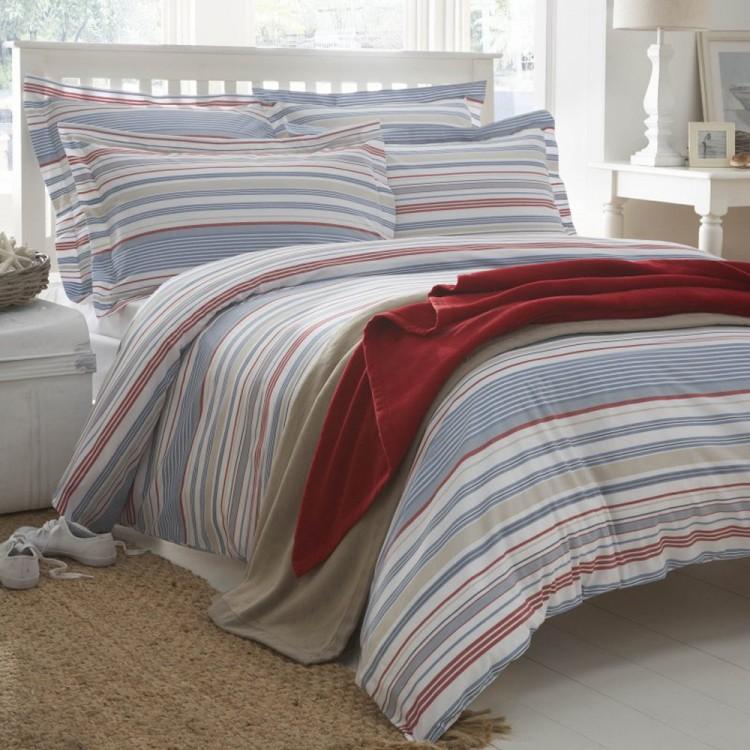 Hudson Stripe Organic Cotton Duvet